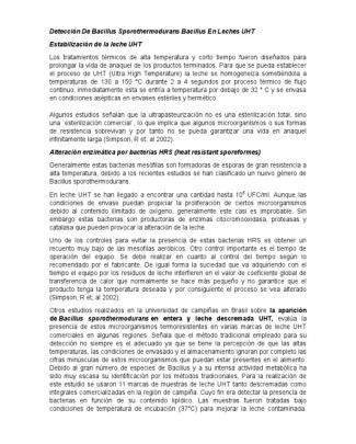 Detección De Bacillus Sporothermodurans Bacillus En Leches Uht