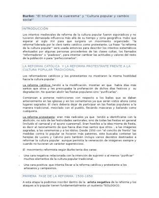 Burke. El Triunfo De La Cuaresma - Cultura Popular Y Cambio Social (2)