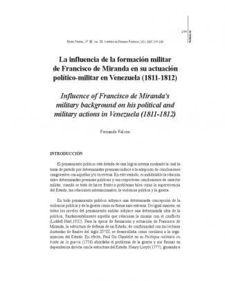 Falcón, Fernando - La Influencia De La Formación Militar De Francisco De Miranda En Su Actuación Político-militar En Venezuela