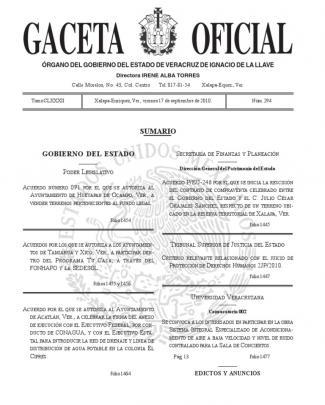 Gaceta Oficial Veracruz Poder Judicial