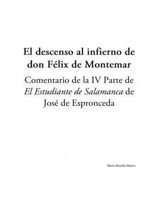 El Descenso Al Infierno De Don Félix De Montemar - María Heredia Mantis