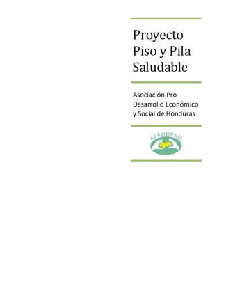 Aprodesh Proyecto Piso Y Pila Saludable
