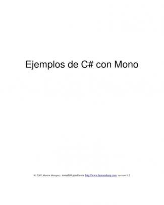 Ejemplos De C# Con Mono