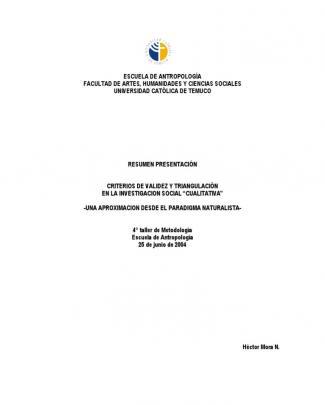Criterios De Validez Y Triangulacion
