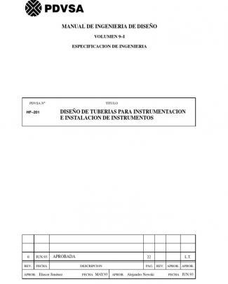 Diseño De Tuberias Para Instrumentacion(hf-201)