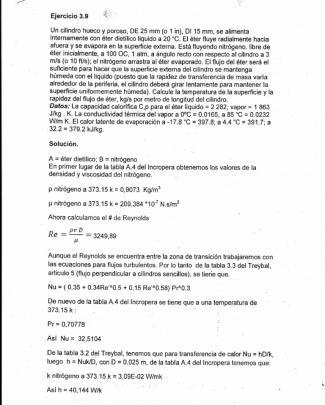 Ejercicio 3.9 Treybal