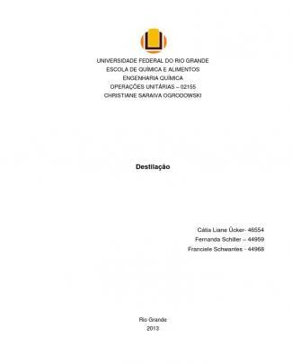 Destilação - Turma De Quarta