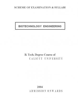 Bt - 2004 Syllabus