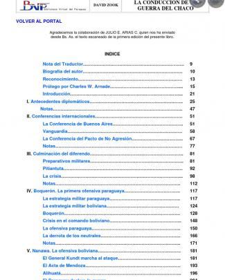 La Conducción De La Guerra Del Chaco - Por David Zook - Paraguay  - Portalguarani
